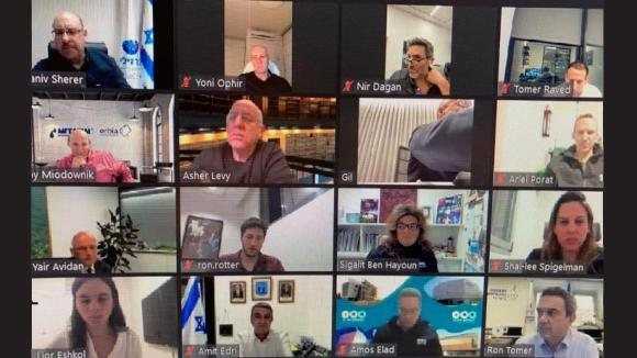 TAU President hosts an Online meeting with alumni appointed to senior positions in the Israeli economy during 2020